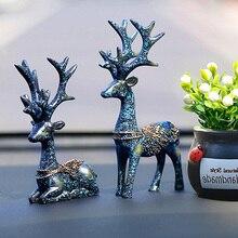 Home Decoration Accessories Elk Figurine Miniature Garden De