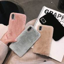 Girl Gifts For iphone 11 Pro Max Hairy Comfortable and warm