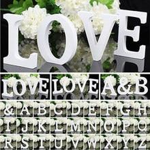 Białe drewno alfabet literowy DIY spersonalizowana nazwa projekt rzemiosło artystyczne wolnostojący boże narodzenie urodziny ślub dekoracje do domu na imprezę