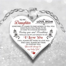 To My Daughter Love Heart Necklace Pendant Necklaces Silver Chain For My Daughte