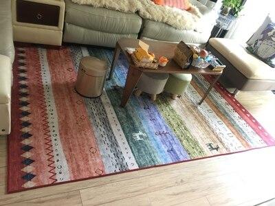 Kilim 100% laine fait main tapis géométrique indien tapis plaid rayé moderne contemporain tapisserie tapis design bohème style Iran
