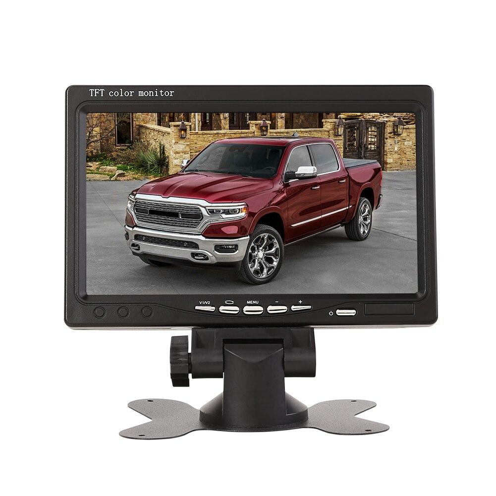 7 дюймов TFT ЖК-дисплей Экран автомобильный монитор плеер 2 Way видео Вход система цветного телевидения PAL/NTSC монитор для авто зеркало заднего в...