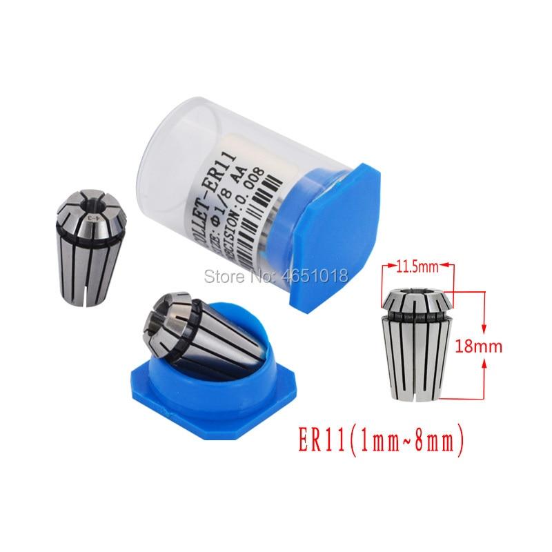 Купить с кэшбэком CNC AA ER11 chuck 1-8mm cylinder chuck high precision verbose engraving machine chuck computer numerical control spring elastic