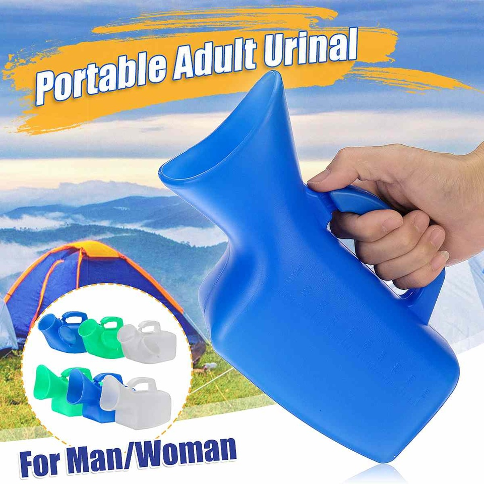 1000ml Unisex Car Outdoor Hiking Reusable Potty Mobile Toilet Urinal With Brush