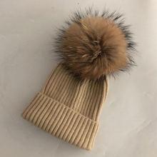 Повседневная Новая зимняя шапка из натурального Лисьего меха