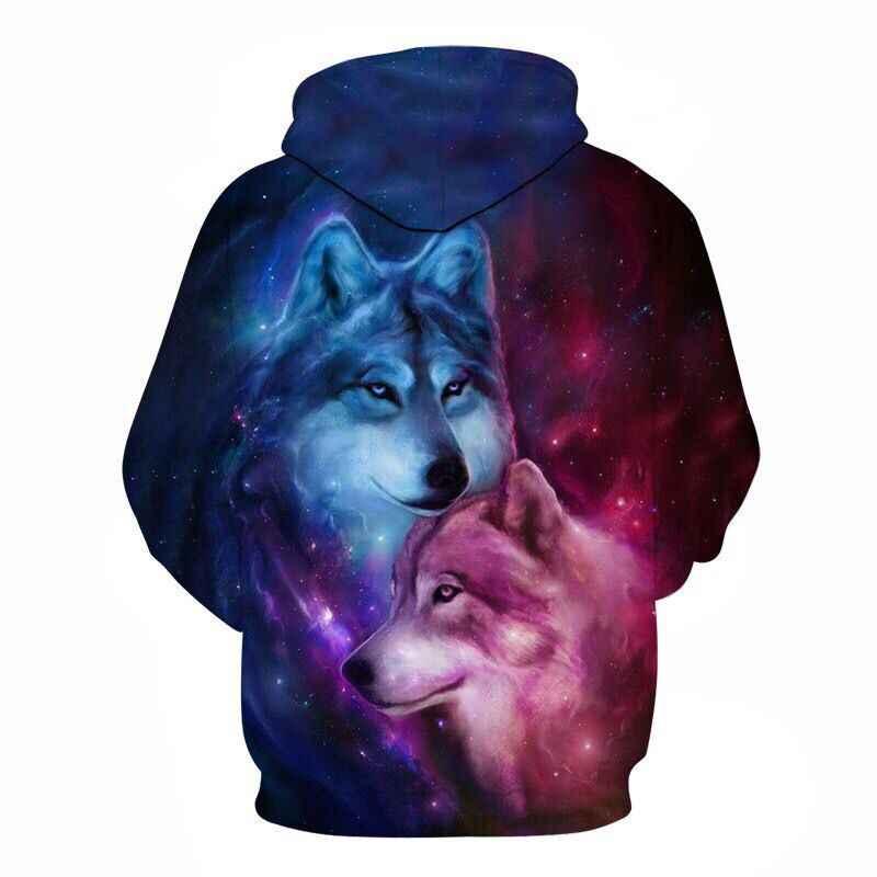 2019 새로운 디자인 망 후드 3d 인쇄 늑대 까마귀 남자 패션 브랜드 캐주얼 까마귀 운동복 힙합 남성 hoody tracksuit 가을