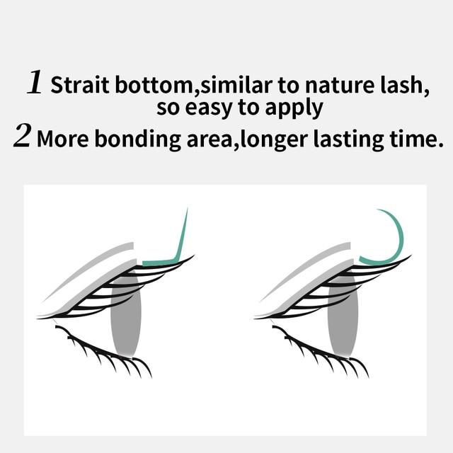 GAHAMACA L/L+/LC/LD/LU(M) curl False Eyelash Extensions 8-15mm Mixed PBT Mink Eyelashes for Grafting L Shaped Makeup Lashes 6