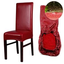 PU wodoodporny elastyczny pokrowiec na krzesło boże narodzenie tanie elastyczny pokrowiec na krzesło pokrowiec na krzesło pokrowce na siedzenia do jadalni Hotel bankiet strona główna tanie tanio TROISCONSEILS CN (pochodzenie) A00852 Gładkie barwione Nowoczesne Plaża krzesło Hotel krzesło Ślub krzesło Bankiet krzesło