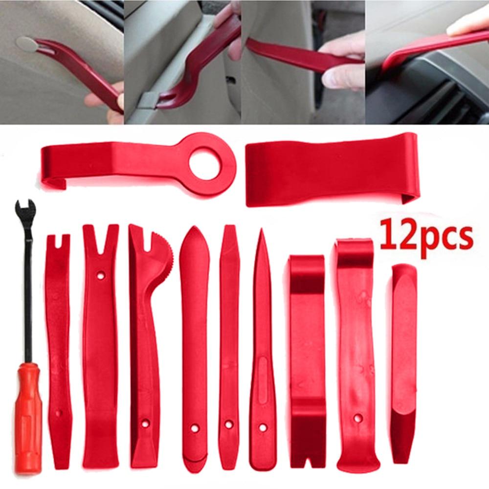 40!12 Pcs Car Audio Maintenance Kit Auto Trim Repair Panel Remover Pry Bar Car Dash Radio Door Trim Panel Clip Hand Tools
