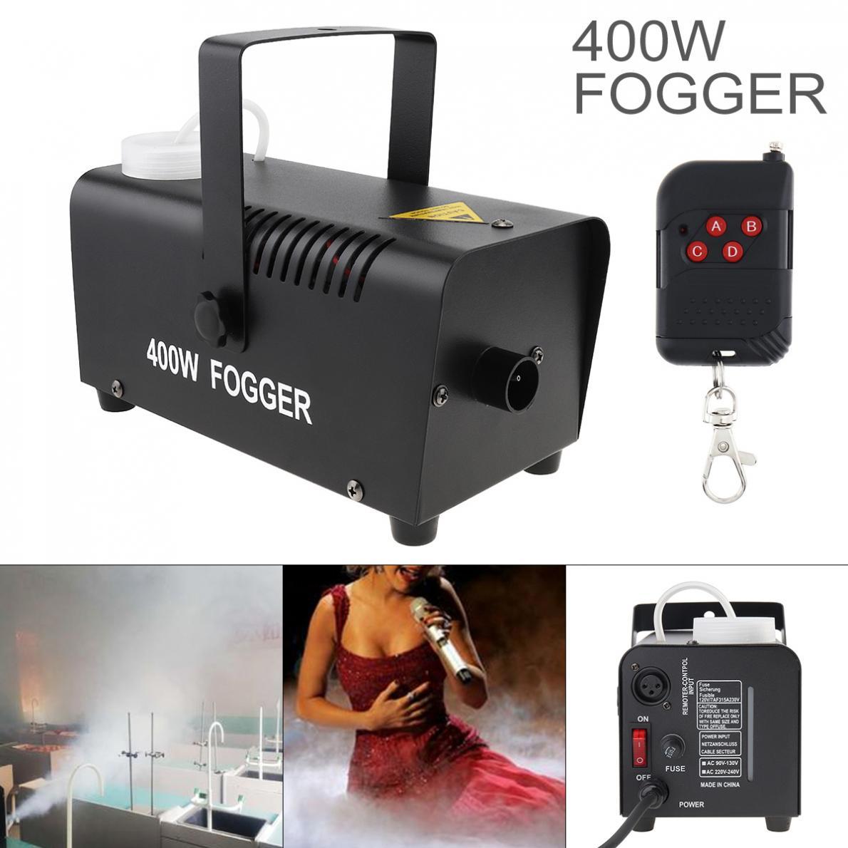 Fog Machine  Wire Control 400W /500W Hood Professional Fog Machine Ejector With Remote Control For Wedding /Stage Fast Shipping