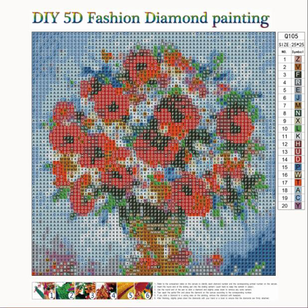 Full Drill 5D Diamond Painting Cross Stitch Embroidery Craft Home Decor DIY Gift
