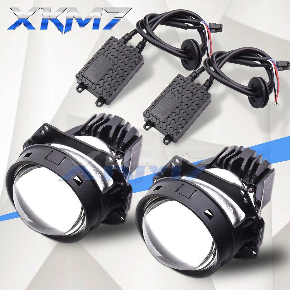 Bi-LED Lens 3.0 LED Projector Headlight Lenses Angel Eyes Lens Tuning For Car Lights Accessories Universal Automobiles Kit DIY