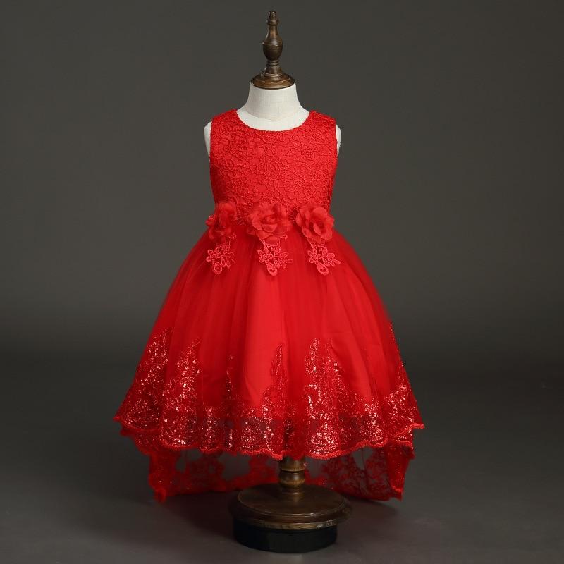Girl'S Gown Summer Gril's Dress Tailing GIRL'S Vest Princess Dress Tuxedo Children Gauze Dress