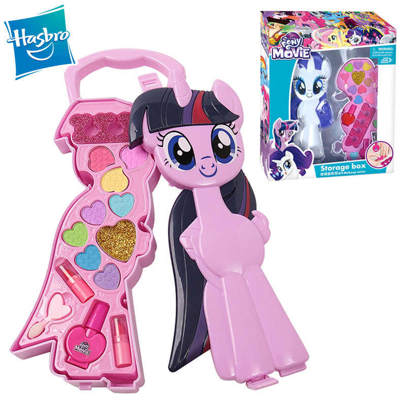 Safe Non Toxic Children S Cosmetics Sets Toys Rainbow My Little Pony Box Palette Lipstick Blush Makeup Brushes Box Girl Gift Kit Aliexpress