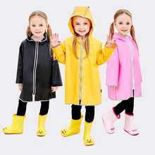 75-125cm TPU waterproof Raincoat For Children Kids Baby Rain Coat Trench Poncho Child Chubasqueros