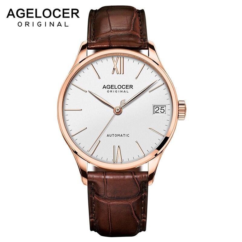 Swiss Men's watches automatic mechanical watch power reserve 80 hours clock militar watch top brand AGELOCER sports watch men