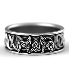Huitan Скандинавская мифология, гигантский волк, мужское кольцо для защиты, тотем, волк, модное, хип-хоп, рок, унисекс, кольцо на палец в стиле па...