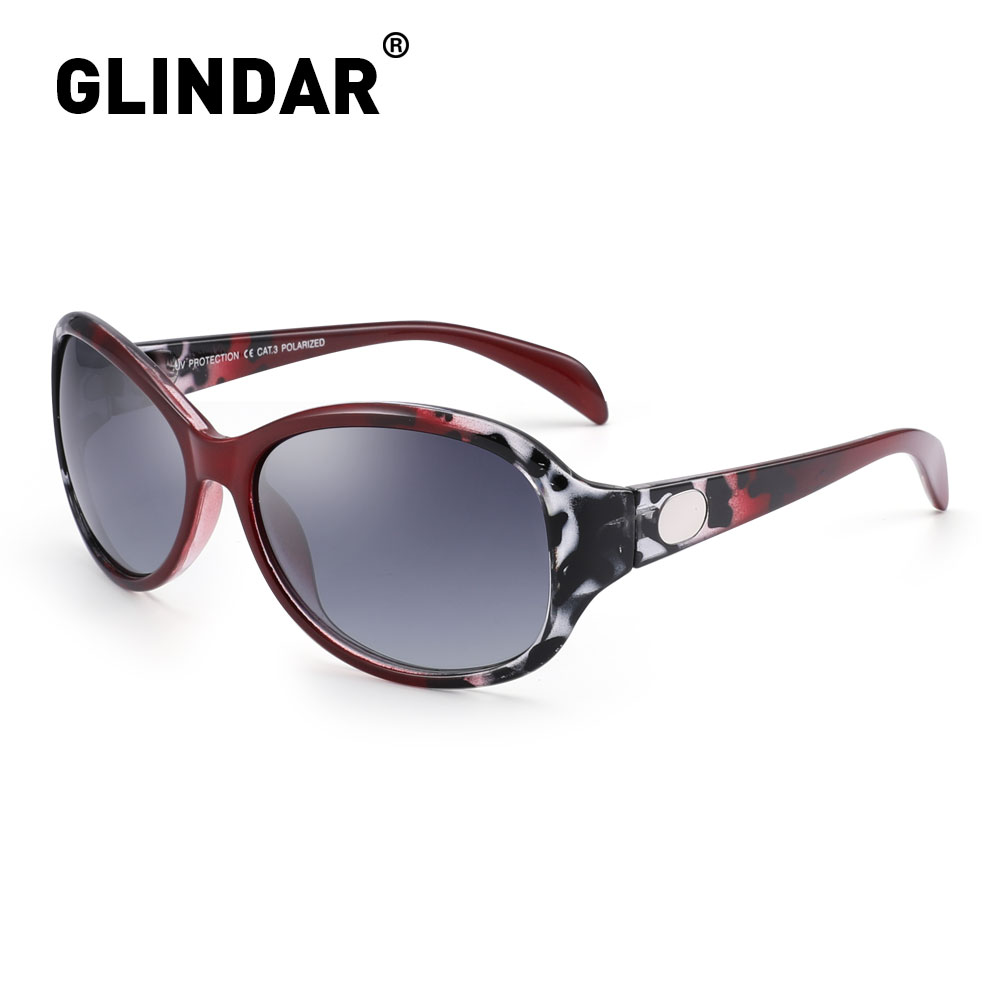 Women Polarized Sunglasses Oval Brand Designer Red Demi Sun Glasses Retro Polarized Sunglasses