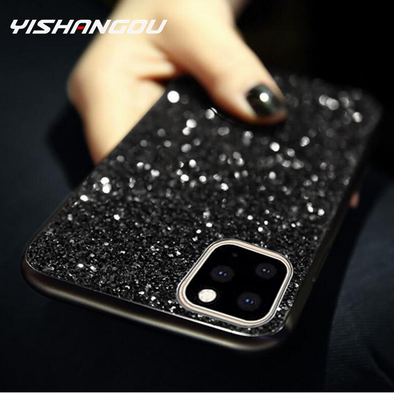 Luxe Bling Paillettes Diamant étui pour iPhone 11 Pro 6 6s 7 8 Plus Pour iPhone X Xr Xs Max FashionSoft coque en silicone Fundas