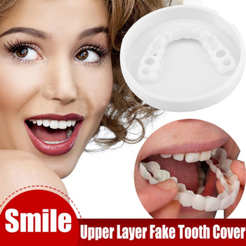 Tooth Instant Perfect Smile Teeth Cover Whitening Smile False Teeth Cover False Teeth Dentures Veneers Cosmetic Fake Tooth Cover 2pcs perfect smile veneers silicone denture smile false veneerd teeth whitening of veneer dub in stock for correction of teeth