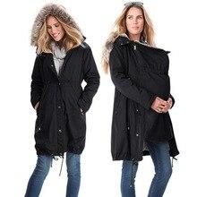 Популярные модели; стильная и удобная одежда для беременных с капюшоном и меховым воротником; однотонное пальто для беременных