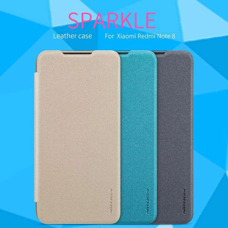 For xiaomi redmi note 8/Note8 Pro case redmi note 7/7s/7 Pro NILLKIN Sparkle flip cover PU Leather hard plastic back cover case