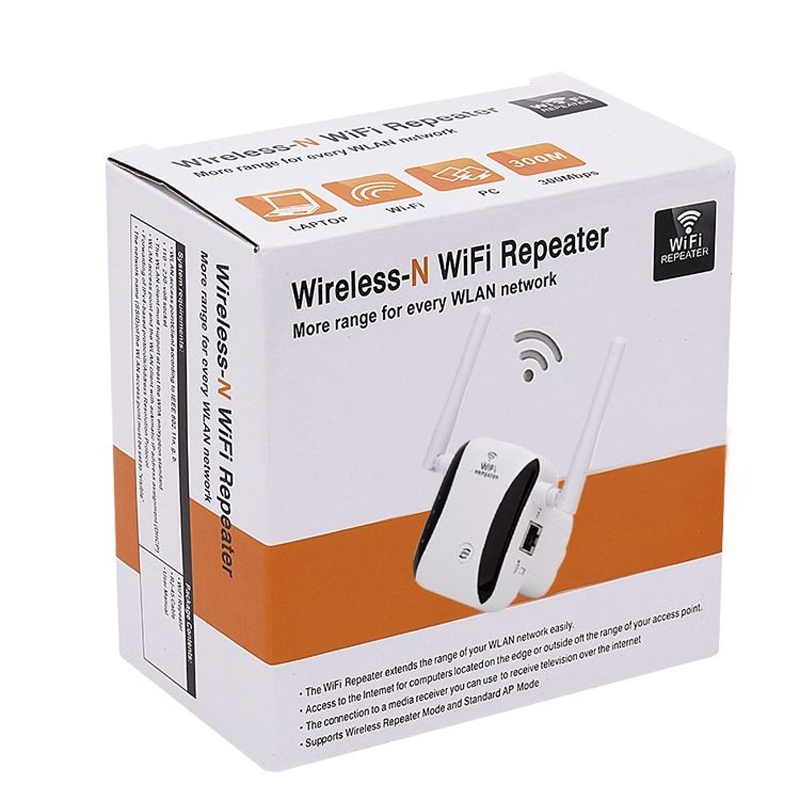KP300 New 300Mbps WiFi Repeater Range Extender Booster With free Plug Antennas 6