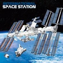 876 pçs idéias criador estação espacial internacional blocos de construção kit tijolos clássico filme modelo crianças brinquedos meninos brinquedo crianças presente
