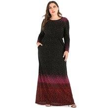 Siskakia Plus Size Maxi Dress 5XL Glitte