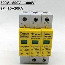 SPD 500V 800V 1000V 3 P 10 ~ 20KA Surge Schutz Gerät Ableiter Niedrigen Spannung Haus 3 pole Surge Protector blitzschutz