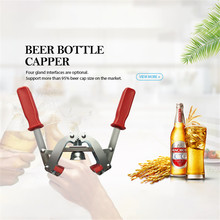 SEAAN New Yellow Manual Beer Bottle Capper for Home Brew Crown Caps on Reusable Glass Bottles Top Quality
