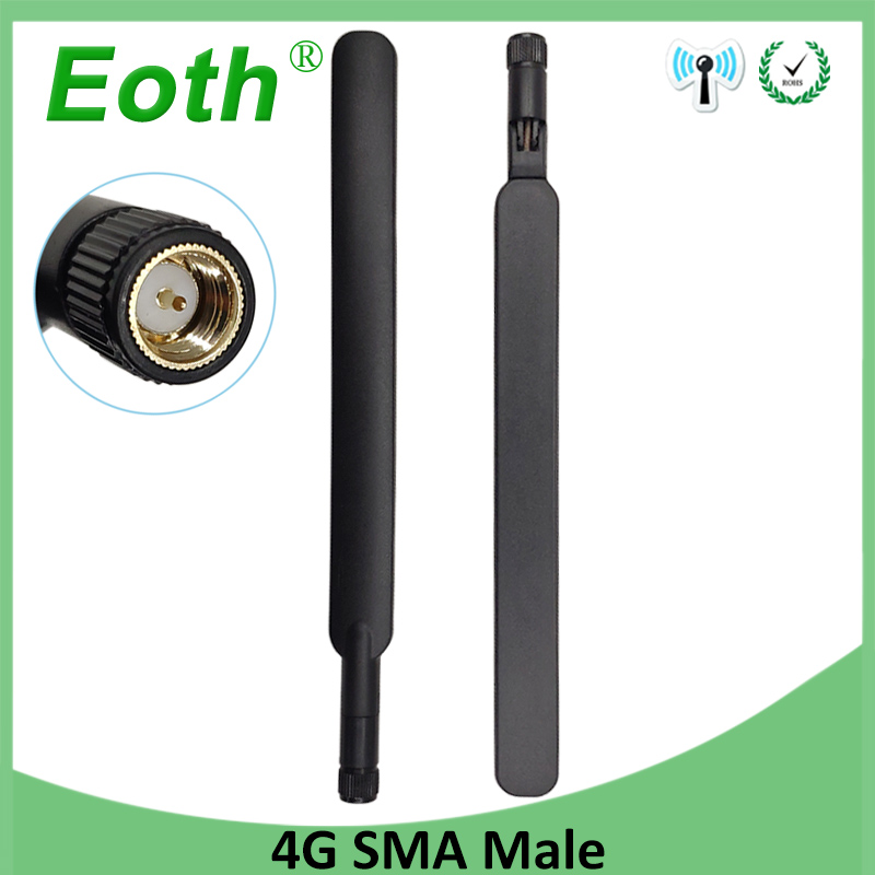 2pcs 4G LTE Antenna 5dBi SMA Male External Router Antena WiFi 3G Antenne For Huawei Modem Router 4G Wireless Modem Lte Repeater