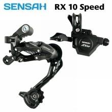 Sensah rx10 1x10 10 velocidade gatilho shifter + desviadores traseiros 10 s para mtb bicicleta compatível com deore m6000 m610