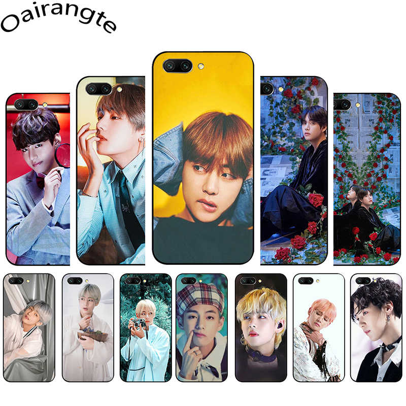 Korea Kpop Hip Hop V Kim Tae-Hyung Tpu Soft Silicone Case Cover Voor Huawei Honor 9 10 7A 8A 7X 8X 8C 9X Pro View 20 30 V30 Pro