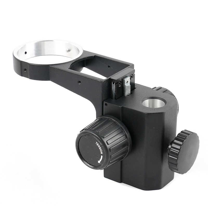 ขนาดใหญ่ Lab อุตสาหกรรมกล้องจุลทรรศน์สเตอริโอปรับขาตั้งโฟกัสวงเล็บ 76 มม.แหวนสำหรับกล้องส่องทางไกลกล้องจุลทรรศน์ Trinocular