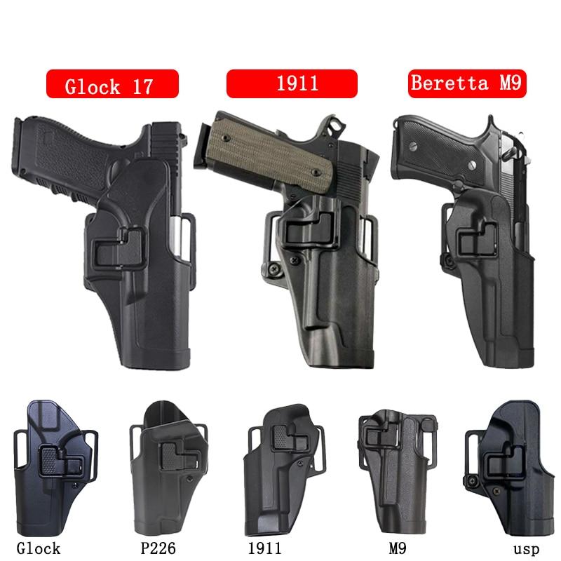 Tactical Holster Airsoft Pistol Gun Case For Glock 17 18 19 22 26 Beretta M9 M92f Colt 1911 Sig P226 Usp Waist Belt Holster Bag