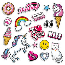 Stickers for Kids Decoration Washable Heat-Transfer-Patches Diy The Easy-To-Use Kawaii