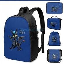 Lustige Grafik druck Spyro wie Zahnlos USB Ladung Rucksack männer Schule taschen Frauen tasche Reise laptop tasche