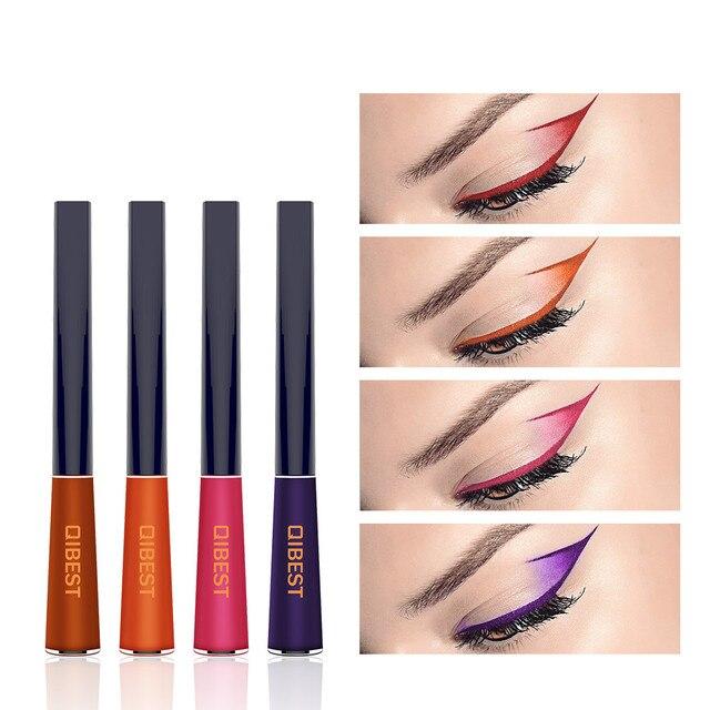 12 Color Matte Liquid Eyeliner Waterproof Long Lasting Easy to Wear Makeup Natural Brown Black Blue Green Eye Liner 1