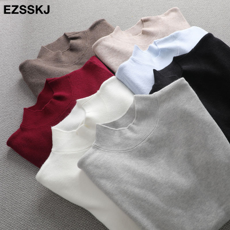 Basic Turtleneck Slim Sweater Pullover Women Autumn winter Casual long Sleeve Sweater For women Female Chic Jumpers top 1