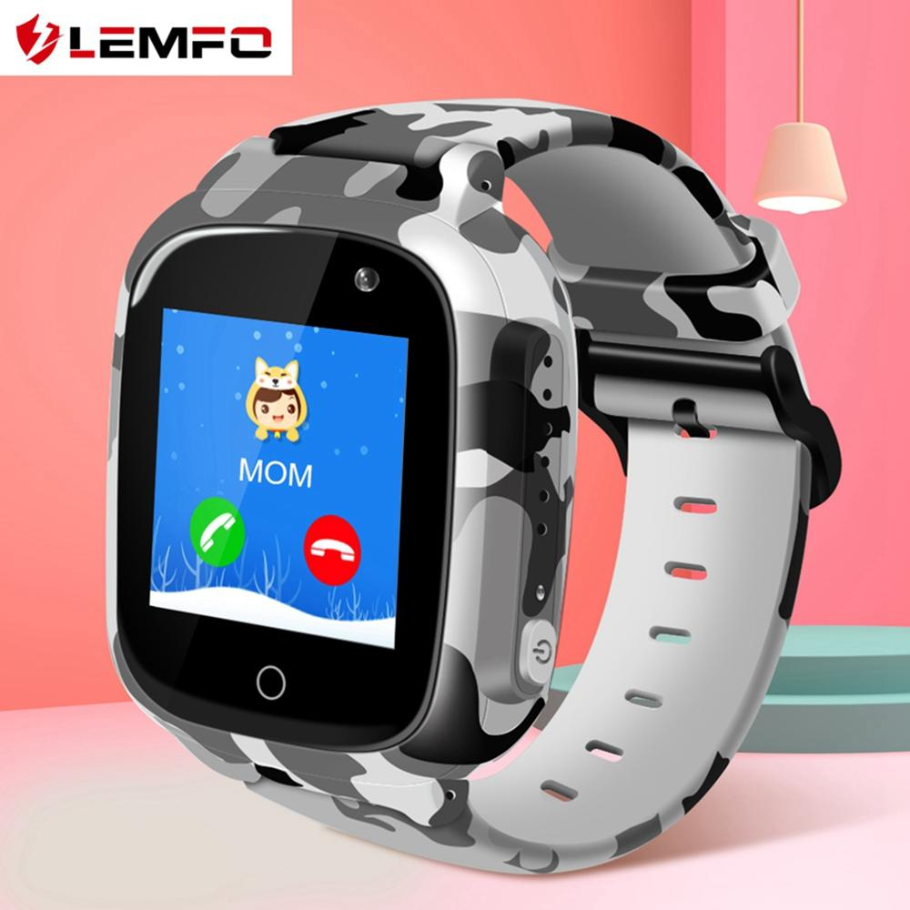 LEMFO Cute Smart Watch Kids Wifi SIM Card SOS Voice Chat Clear Camera IP67 Waterproof 600mAH Battery Smartwatch GPS For Child|Smart Watches| |  - AliExpress