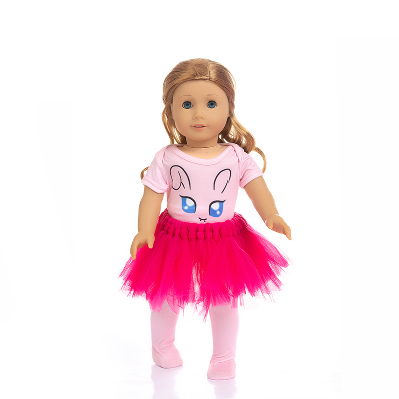 Born New Baby Fit 18 inch 43cm Doll Clothes Doll White Yellow Blue Rabbit Rainbow Dress Suit Clothes accessories For Baby Gift in Dolls Accessories from Toys Hobbies