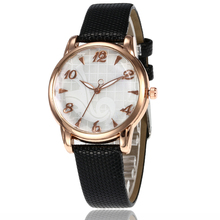 Fashion casual watch for women stylish Women's Silver Leather Strap Analog Quartz Wrist Watches Clock Modern Design montre femme