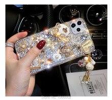 Hot Gold Purse Bling Crystal Cinderella Vervoer Gevallen Voor Samsung Galaxy A50 A70 A40 A10 A20E A30S A21S A01 A31 a41 A51 A71 5G