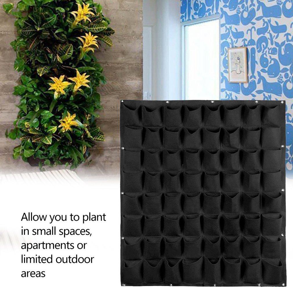 Pocket Wall-Mounted Non-Woven Felt Planting Bag Vertical Garden Planter Hangers Outdoor Indoor Flowers Growing Container Pots