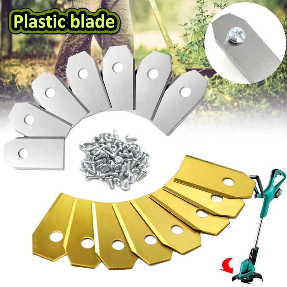 30pcs Lawn Robot Blade Golden Titanium Plating Lawn Mover Replacement Blade For Husqvama Automatic Moving Machine Essential Tool