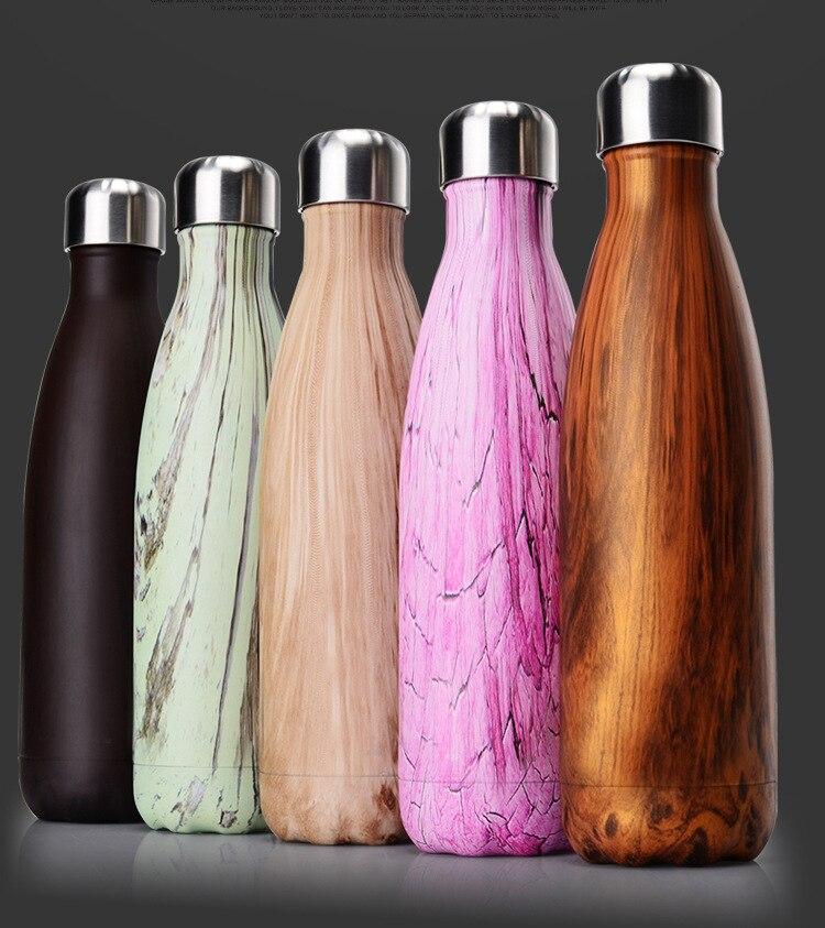 GJ 500MLWater Bottle 500ML Discolored stainless steel Drinkware Tour Outdoor Sport School Leak Proof Seal Climbing Water Bottle|Water Bottles| |  - AliExpress