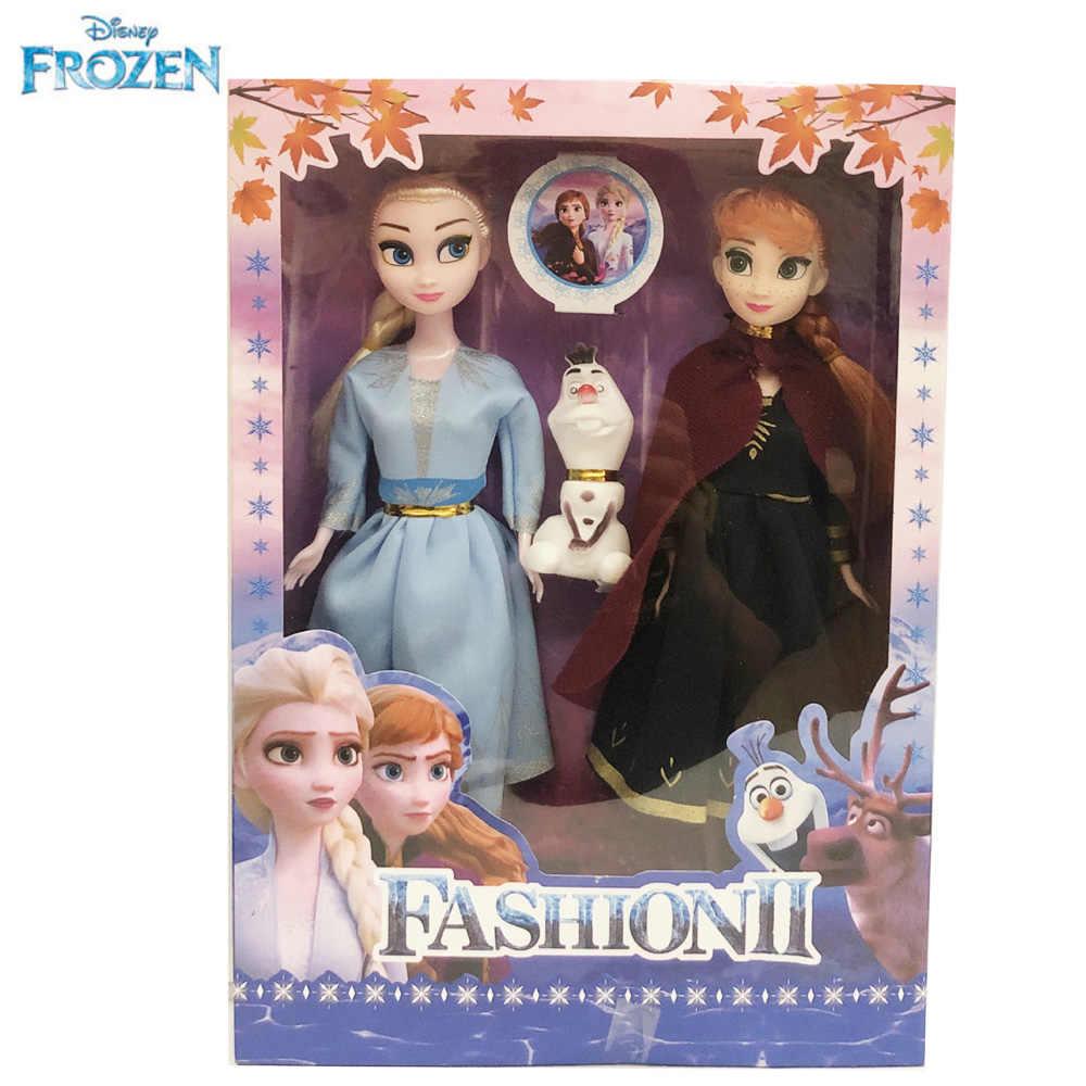 Disney anime congelado 2 princesa rainha elsa anna olaf moda bonecas brinquedos figura de ação para crianças natal melhores presentes