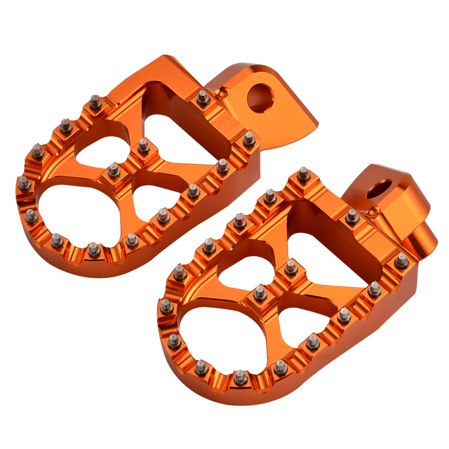 DE POST Foot Pegs Pedals Footrest Footpegs For 65 85 125 150 200 250 300 350 400 450 500 525 KTM SX SXF EXC EXCF XC XCF XCW XCFW 3