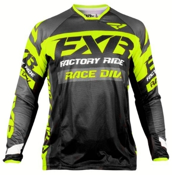 DH Motocross MX FXR Long Sleeve MTB Jersey 1